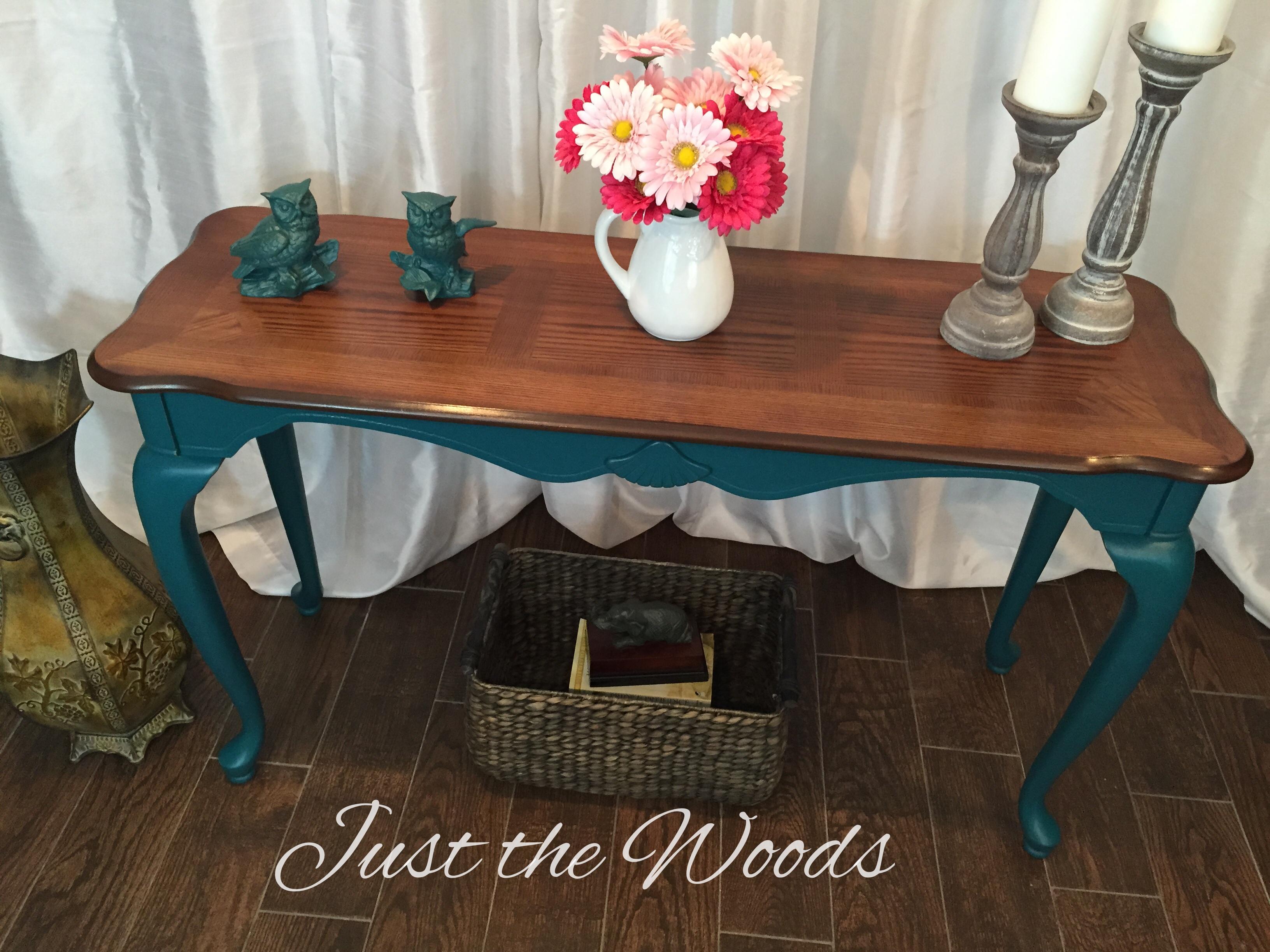 deep teal hall table $245