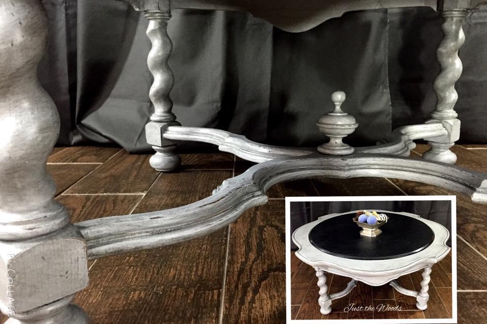 Stone, Wood & Barley twist leg table