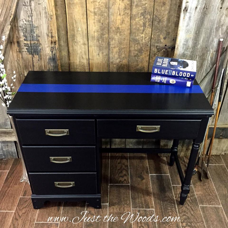 Thin Blue Line Desk