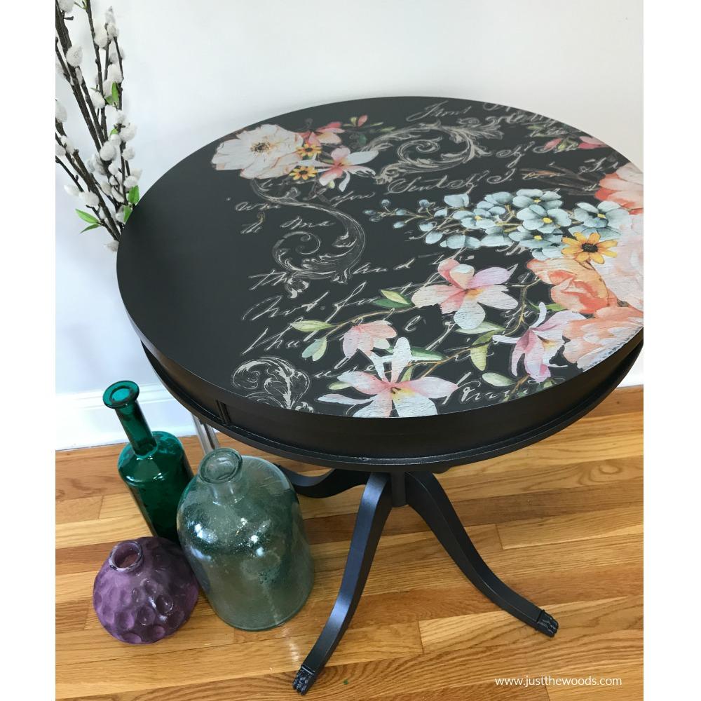 black-metallic-painted-table