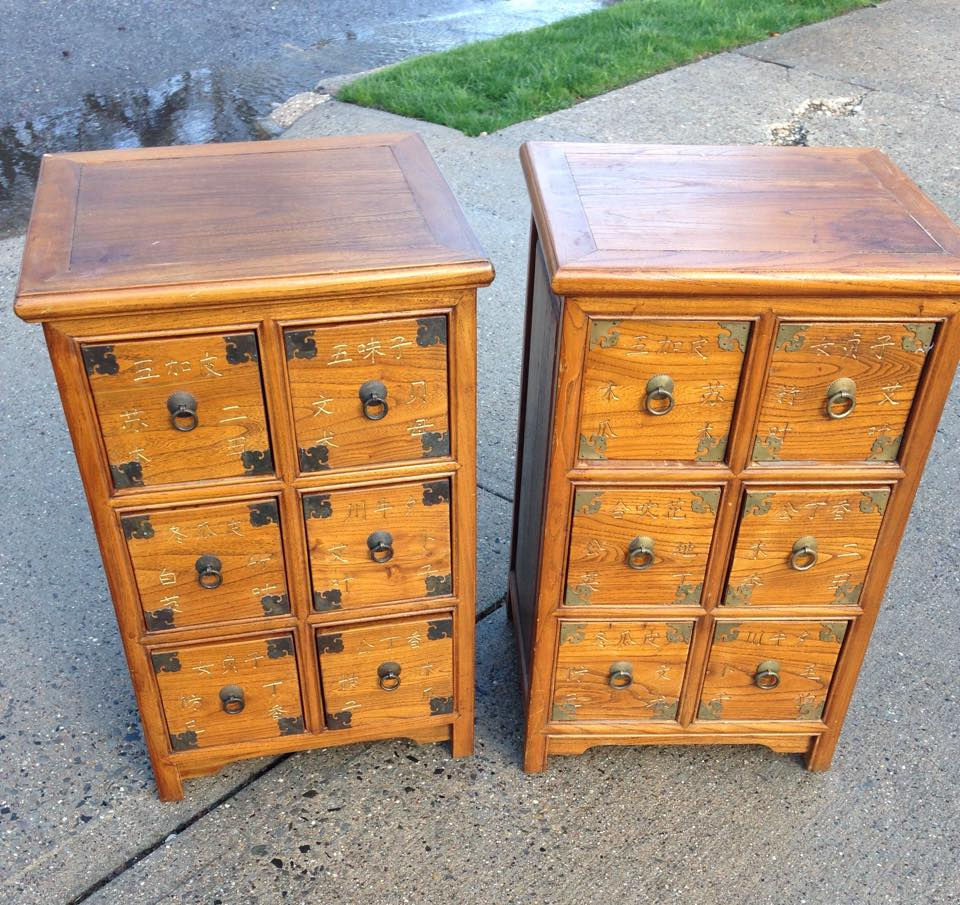chinese apothecary tables $250