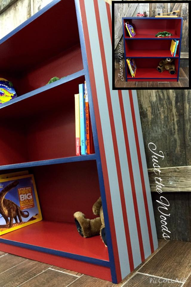 Striped Wood Bookcase