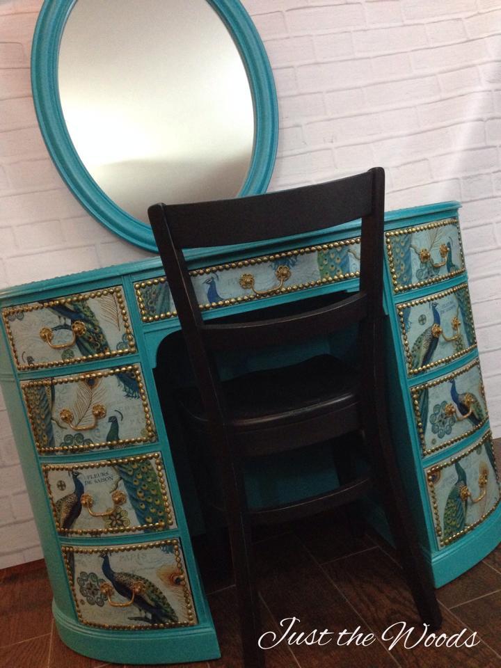 Peacock desk or vanity $695