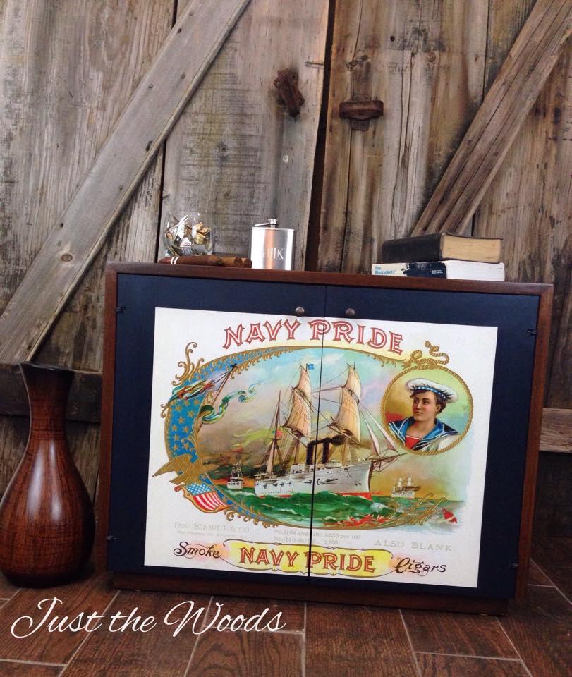 navy pride cabinet $195