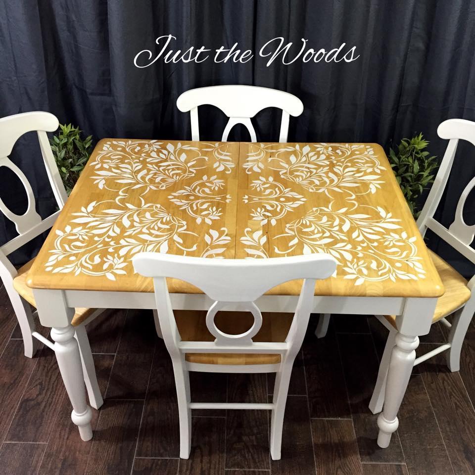 damask dining set