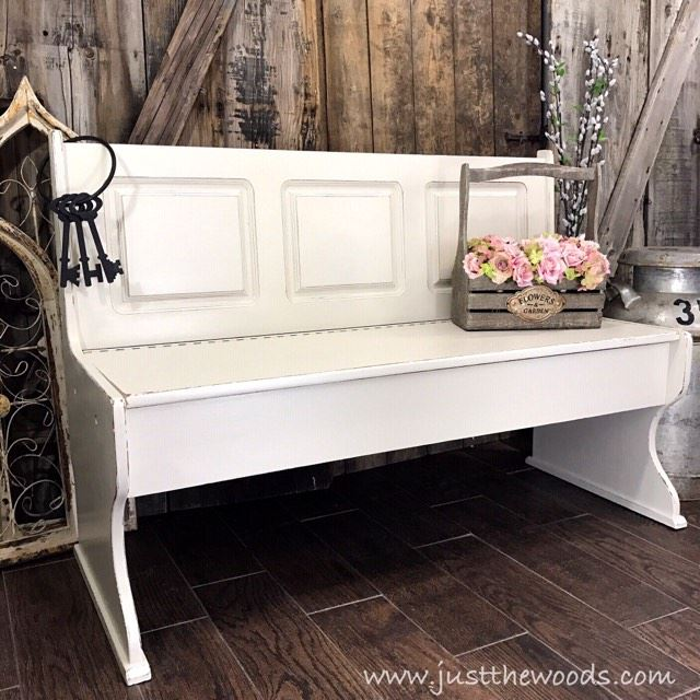 Farmhouse Style Painted Bench