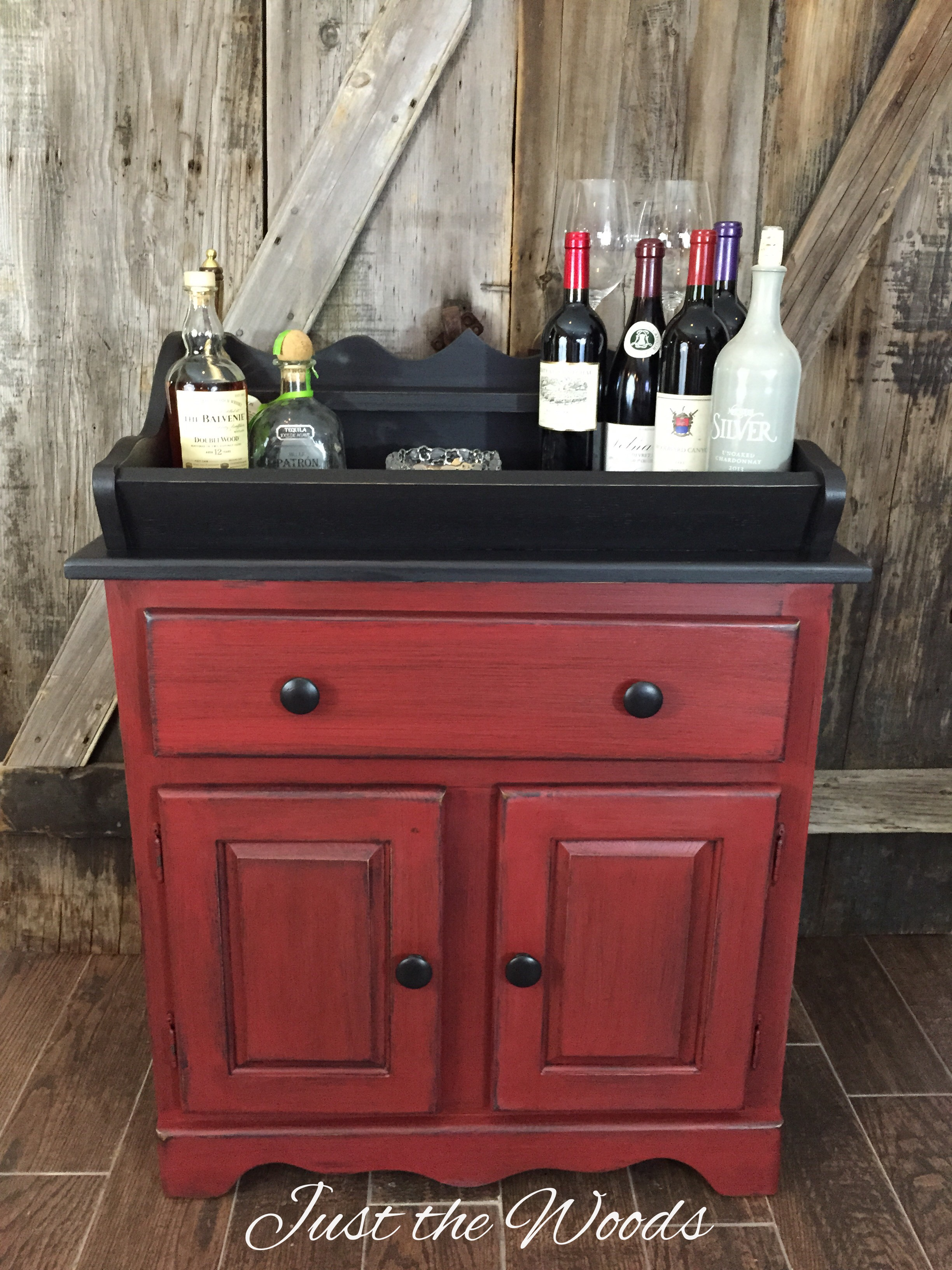 rustic dry sink made home bar $225