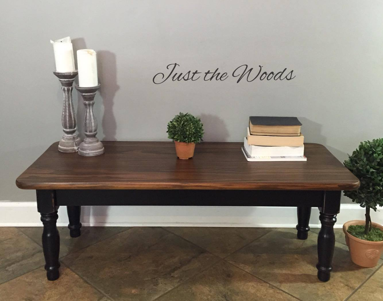 Black, Stain & Wood Grain Coffee Table