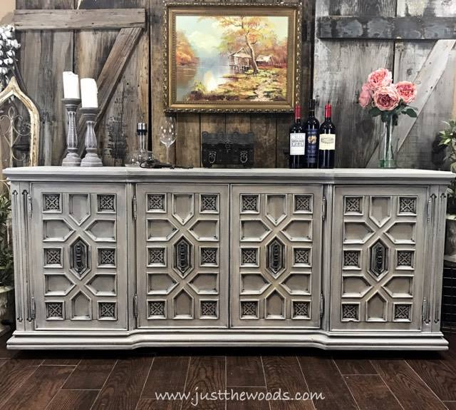 Vintage Ornate Painted Buffet