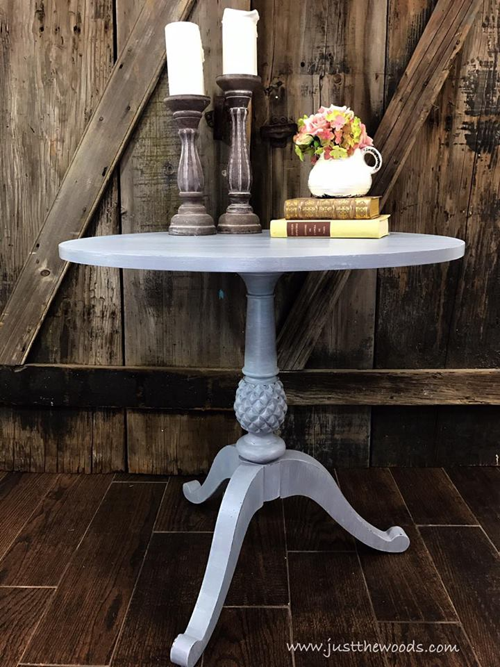 Painted Accent Table with Soft Layers