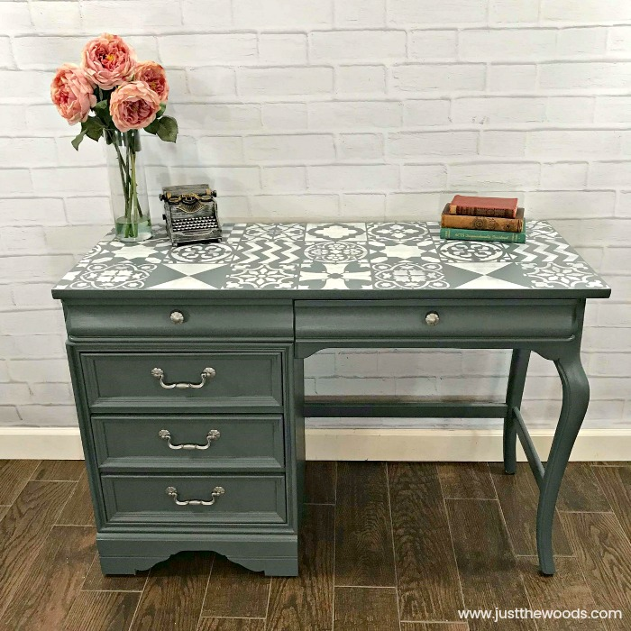 painted-furniture-blog-painted-desk-with-stencil-staten-island
