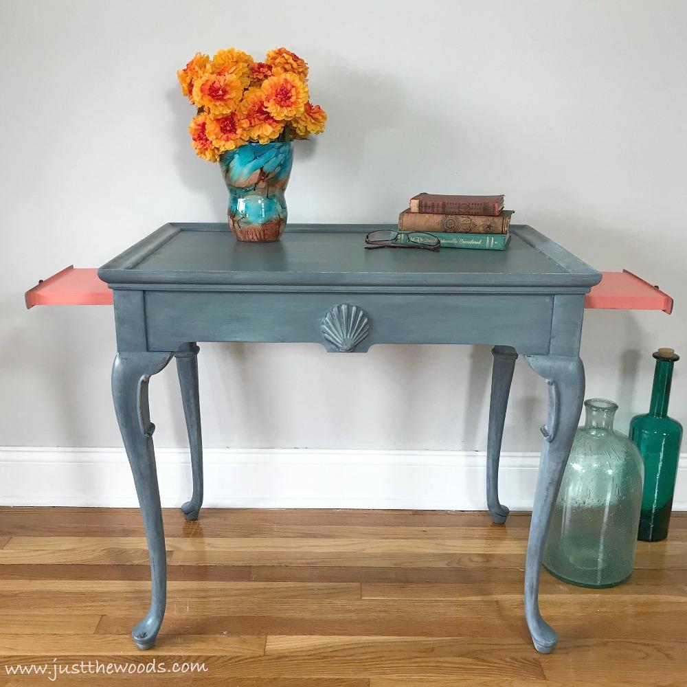 tea-table-makeover-coastal-style