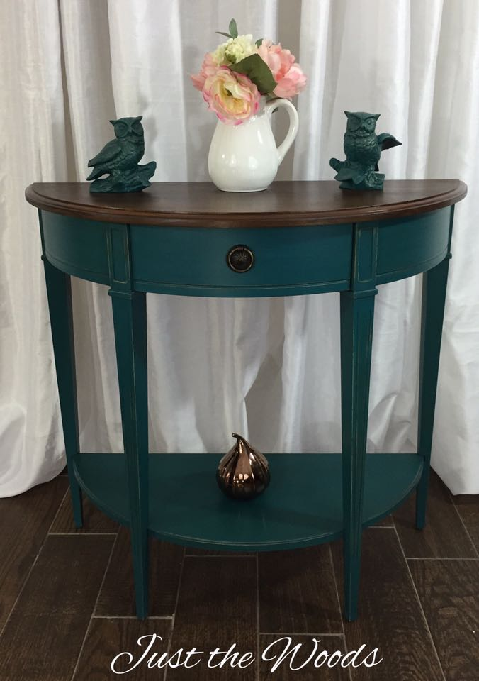 deep teal console table $225