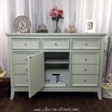 Shabby Chic dresser with Decoupaged Drawers