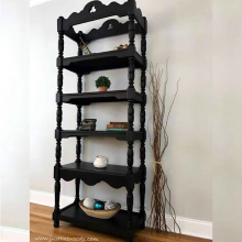 Black Painted Vintage Etagere