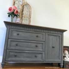 gray-painted-dresser-with-stone-finish