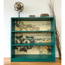 green-painted-furniture-with-butterfly-paper-staten-island-painted-furniture-diy