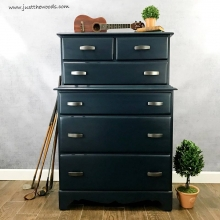 Vintage Navy Blue Painted Dresser