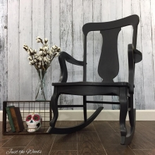 Charcoal Painted Vintage Rocking Chair
