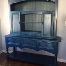 Custom Angelic Blue Thomasville sideboard