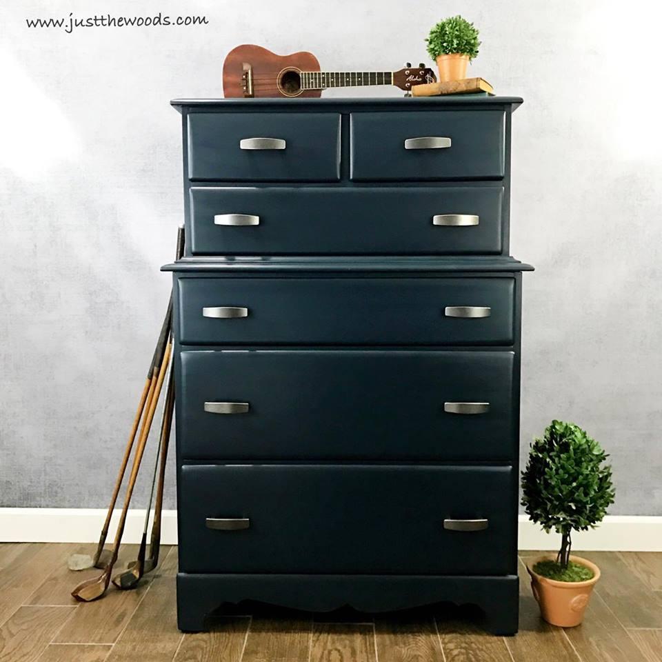 Vintage Navy Blue Painted Dresser