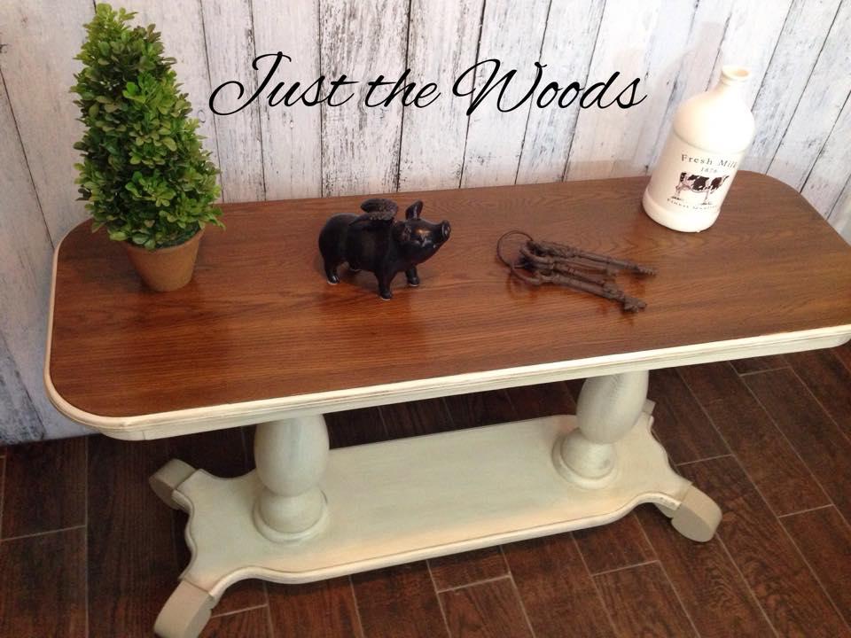 oak hall table $250