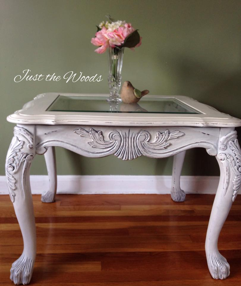 shabby chic lion paw table