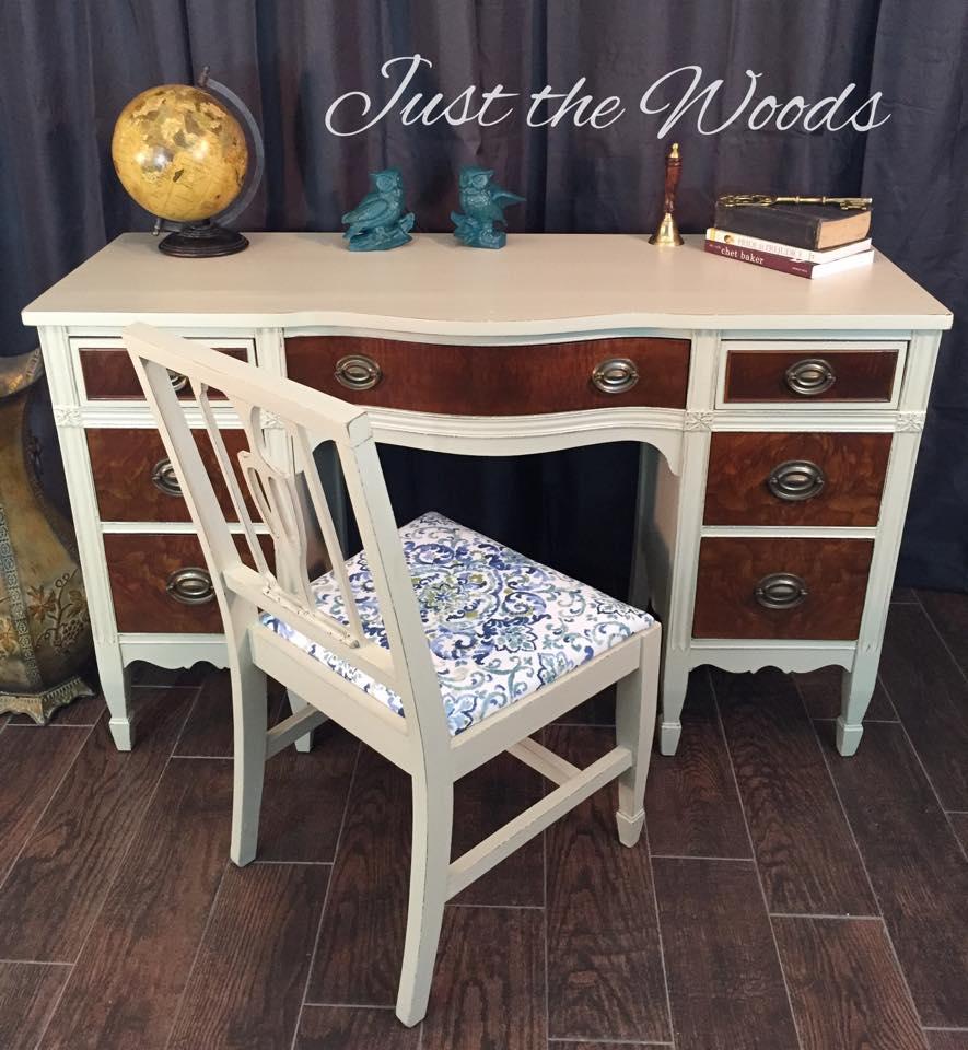 Burl Wood Desk $460
