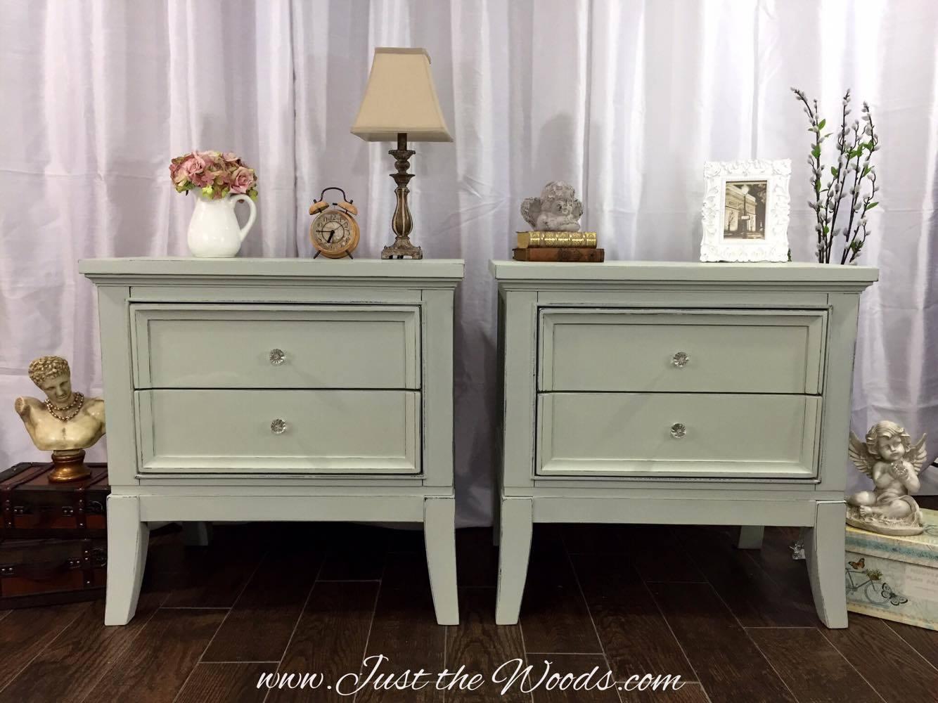 Shabby chic nightstands