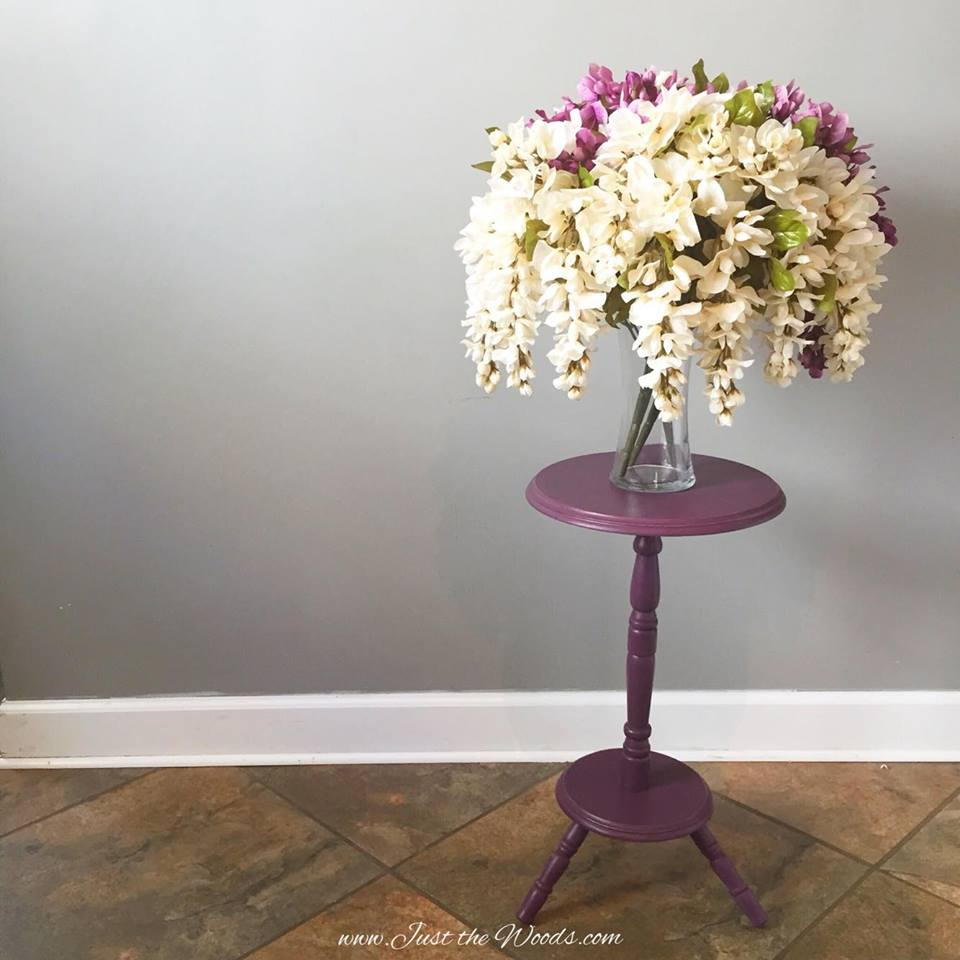 Purple Painted Plant Stand