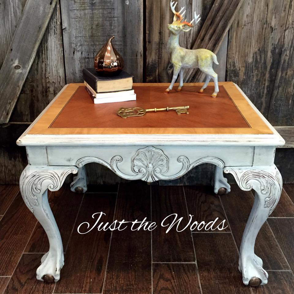 Antiqued Ball & Claw Foot table