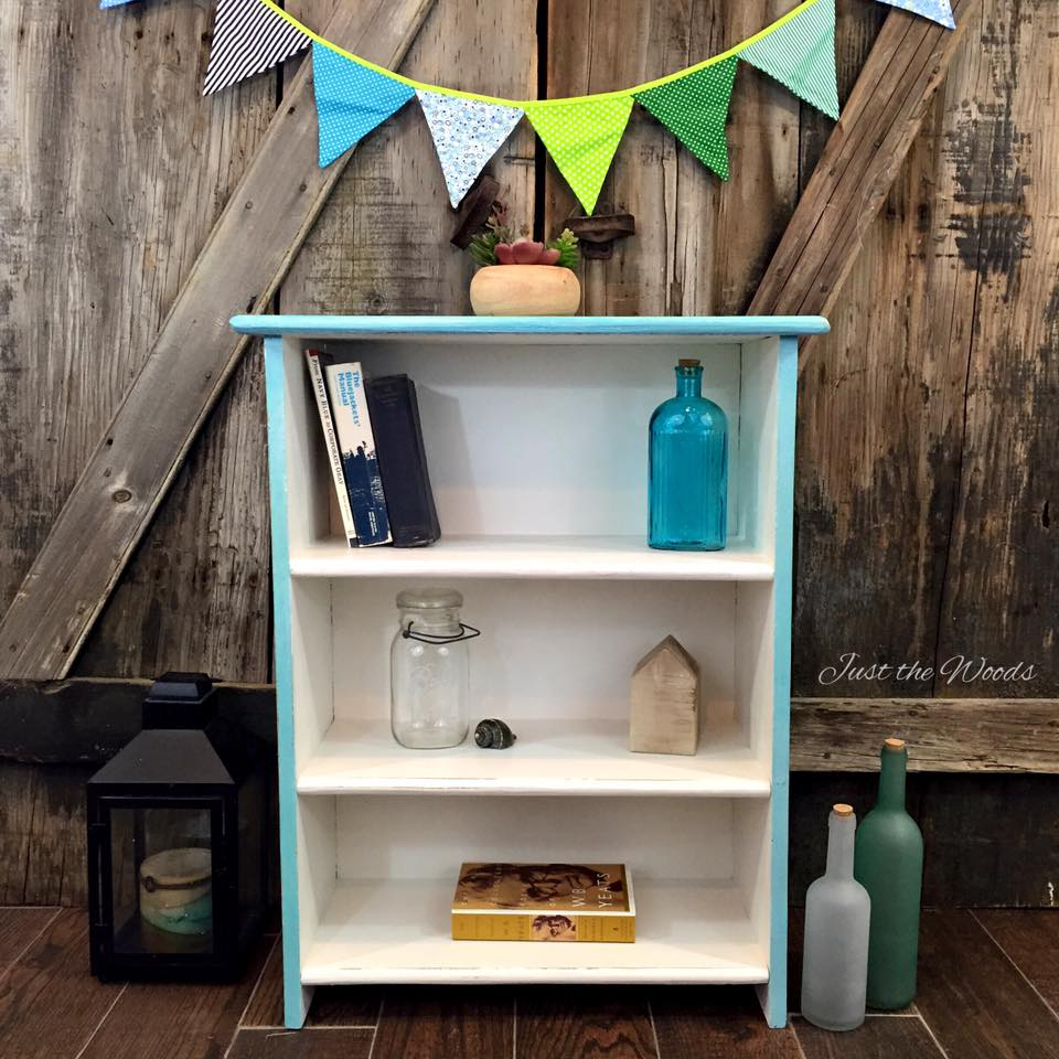 Cool Blues Bookcase