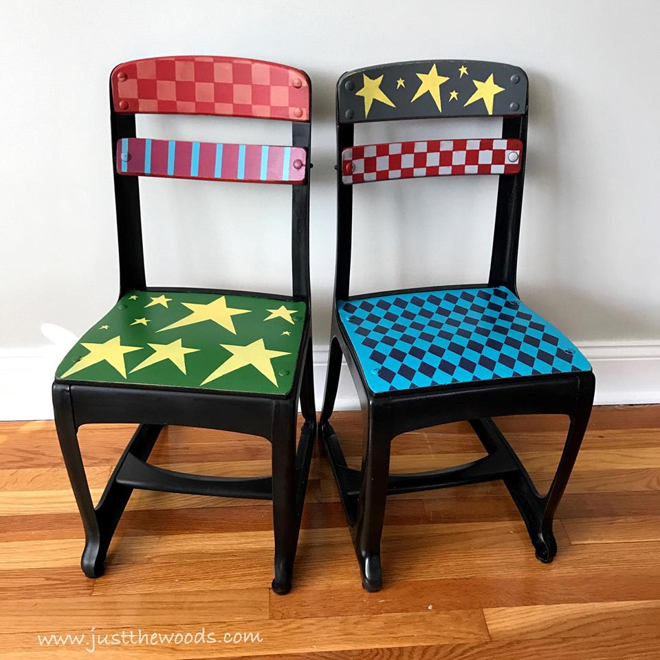 whimsical-painted-chairs