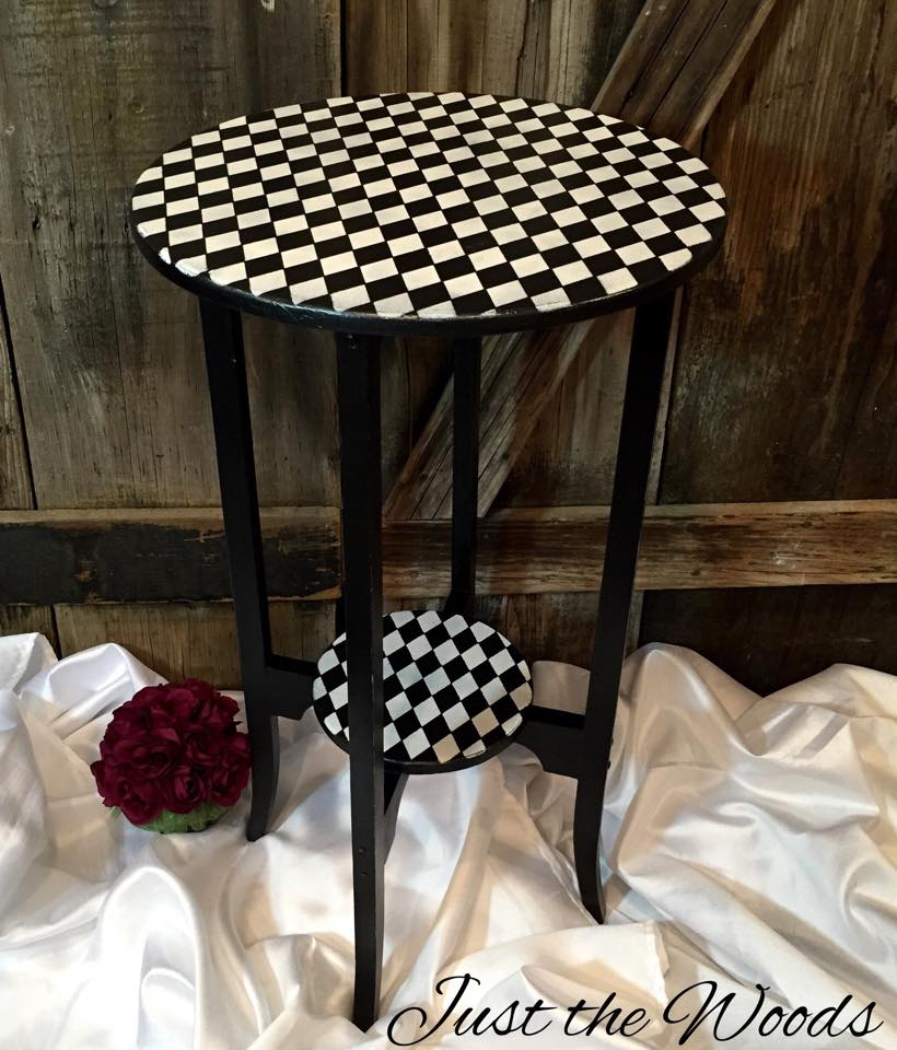 whimsical wood table $80