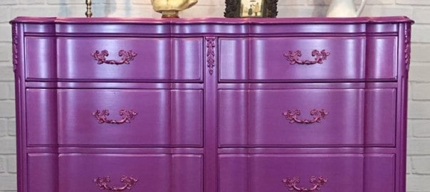 Metallic French Provincial Dresser