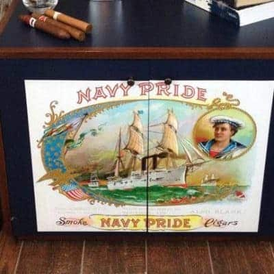 Anchors Aweigh Navy Pride Vintage Cabinet
