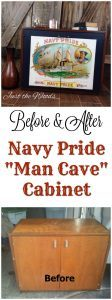 "Vintage Navy Pride Cigar Label ""man cave"" Cabinet by Just the Woods"