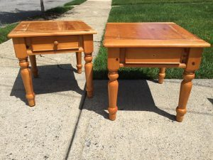 unfinished pine end tables, painting pine furniture