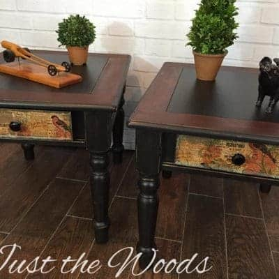 Not Your Grandma's Tables – Shabby Black End Tables