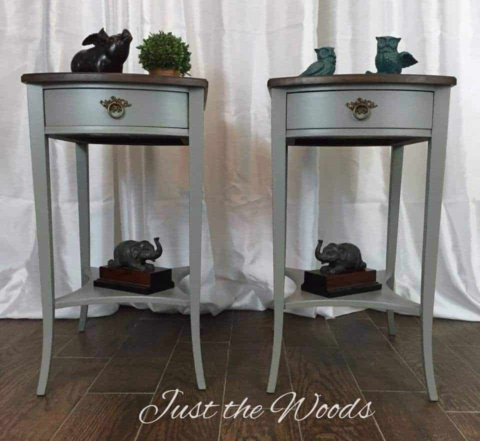 Painted Mahogany tables makeover