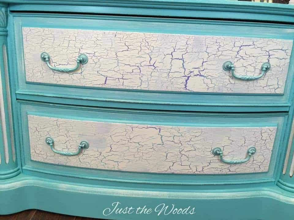 Crackled painted furniture