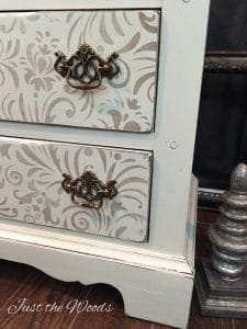shabby chic dresser, chalk paint, painted furniture, painted dresser, stencil on furniture