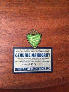 certified mahogany, logo, imperial mahogany, vintage mahogany, staten island, just the woods