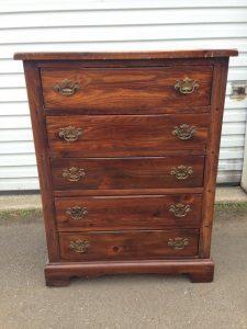 stenciled dresser, vintage dresser, chunky dresser, painted dresser