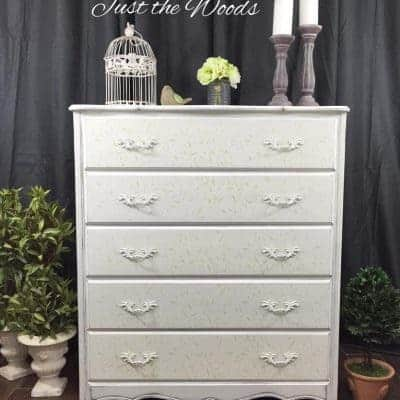 Cottage Chic Lily Scroll Painted Dresser