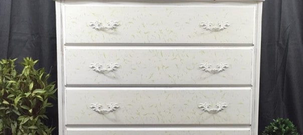 Cottage Chic Painted Dresser with Stencil