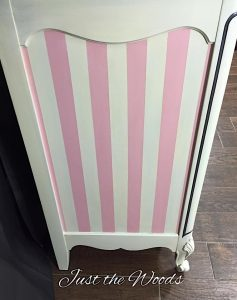 Painting Stripes on furniture