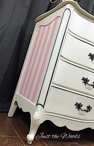 Romantic Painted French Provincial Dresser