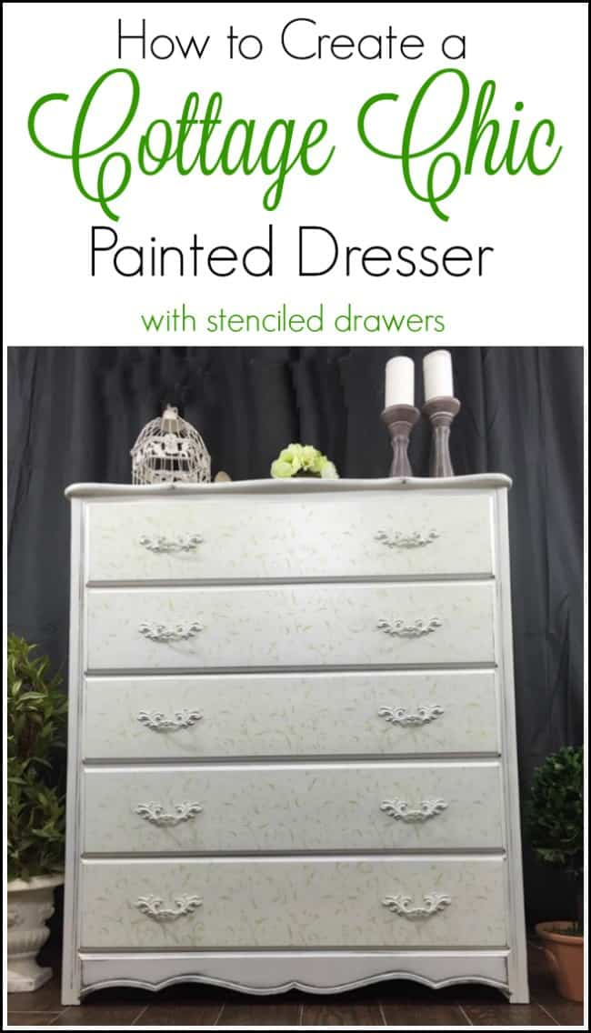 cottage chic dresser, cottage chic painted furniture