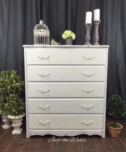 Cottage Chic Stenciled Dresser